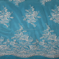 Ivory Corded Bridal Lace Fabric/Embroidered Allover Lace