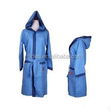 hooded microfiber sports bathrobe microfiber travel bathrobe