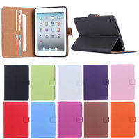 Hot selling Plain standing leather case for ipad mini 2