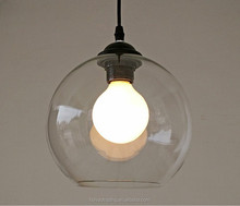 Top And Bottom Openning Hanging Wall Light Ceiling Lamp Table Lamp Clear Glass Ball For E27