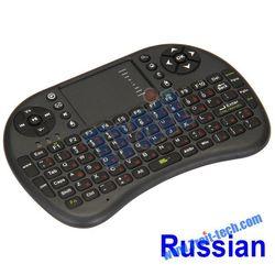 Authorised UKB-500-RF 2.4Ghz Mini Wireless Russian Language Keyboard Mouse Combo With USB Dongle