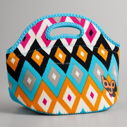 Colorful printed Neoprene tote bag Lunch bag