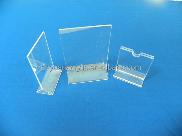 best quality clear acrylic menu holder/table magnetic acrylic menu holder wholesale