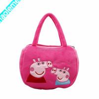 2015 Red Plush Kid's Brand Handbag Manufacturers China
