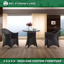 china wholesale poly rattan cheap balcony furniture outdoor