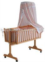 2014 best sales luxury baby wooden swing bed
