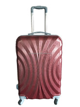 travel luggage ABS+PC set with aluminum trolley