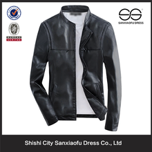 2015 Latest Fashion Design Best Price Leather Jacket Boys