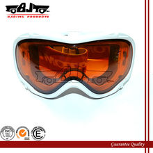 BJ-MG-016A blanco casco de moto gafas motocross