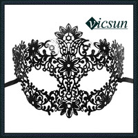 JS-020 Yiwu Caddy Decoration Filigree Metal Masks For Sale venetian mask for decoration