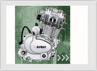 Chinese Cheap Strong Power 250CC Motorcycle Engine Air Cooled Engine For Sale CG250
