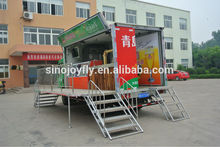 mobile dinner cart popular accessories truck type for fast food