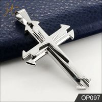 China Manufacturer Wholesale Large Silver Cross Pendant