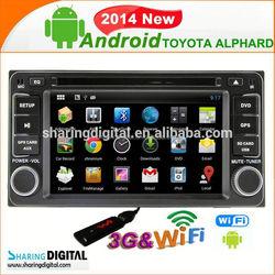 Sharingdigital Support wireless IPOD car radio gps navigation for Toyota ALPHARD