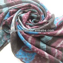 HD376-759 printed polyester scarfs 2012