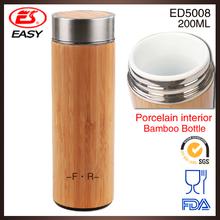 ED5008 PA free china manufacturers bamboo porcelain water bottle wholesale, ceramic bottle wholesale