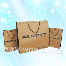 Kraft paper material cheap Recycled plain kraft paper bag /brown paper bag