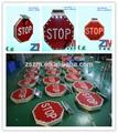 Seguridad vial solar económica de aluminio carretera signo/señal de stop