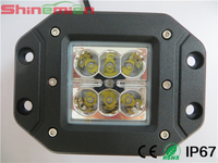 Square Flush Mount spot flood beam 18W CR EE LED Work Light Bumper Off Road Jeep motor car