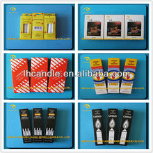 Produce paraffin wax Daily use stick white candles in paper box