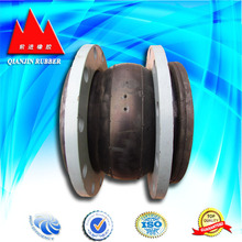 Vulcanized rubber expansion joint with flange coonection