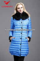 Light blue/khaki white deep rose in stock boutique warm coat
