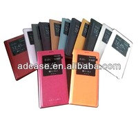 Universal High copy smart view leather flip case for samsung galaxy note 3 with IC