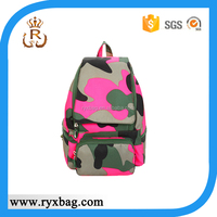 Military pink camouflage backpack