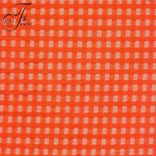 High Quality Latest Geometry New Trends Orange 100% Poly Square Pattern Lace Fabric