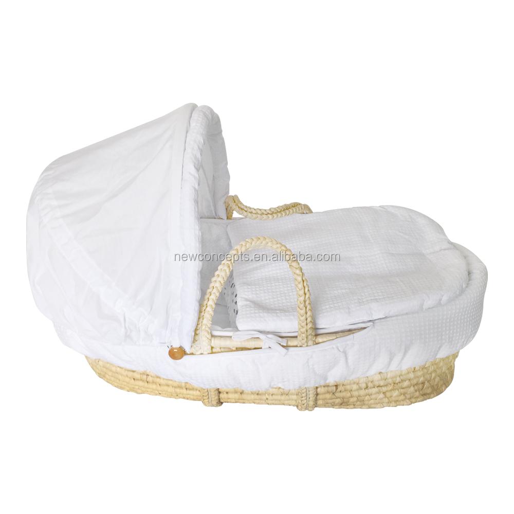 Wholesale Portable Handmade Baby Crib Moses Basket Crib