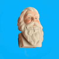 top grade porcelain santa heads