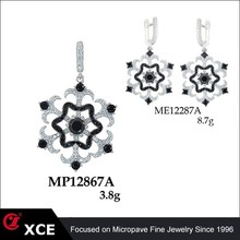 new year gift snow shaped fashion jewelry set