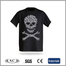 popular 100%cotton sale online black skull sleep shirts for women