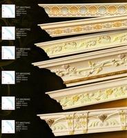Decorative elegant hand painted wood furniture mouldings