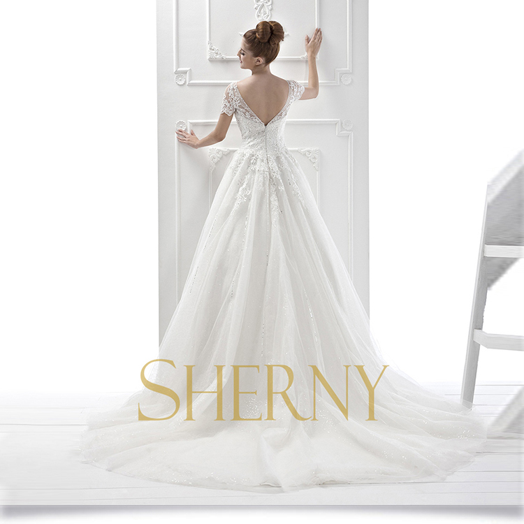 China hot sale sherny bridals cheap custom arab bridal for Backless wedding dresses for sale