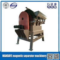 WANDAYE high quality strong magnet Iron ore Vertical Ring Magnetic Separator