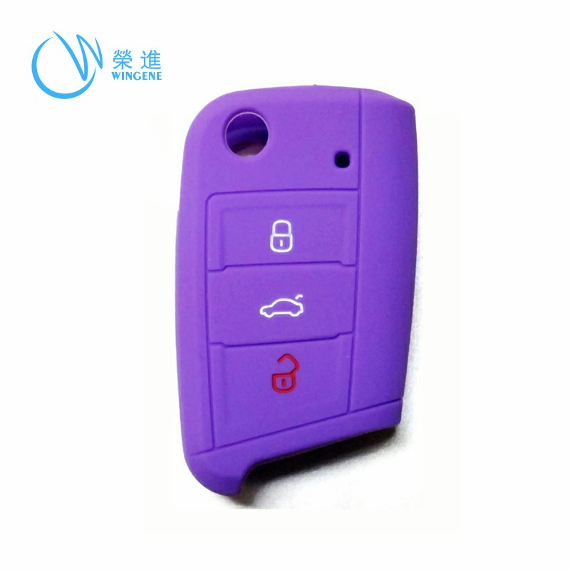 Silicone antichoc serrure de voiture ouvre protecteur en caoutchouc clé couvre pour marque clé de voiture cas