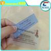 CR80 lucency pvc card /custom pritning transparent plastic business card