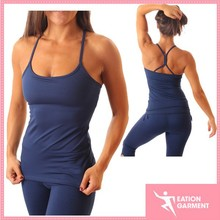 slimming fit dance wear top fashionable conservative ladies yoga wear tops