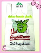Cheap Clear biodegradable Plastic T Shirt Bags