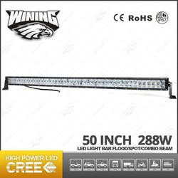 China Supplier 50 inch 288w 4X4 Led Lighting Bar , High Power Wining Wholesale Auto Led Lighting Bar