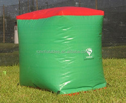 custom inflatable paintball green cube bunkers for sale, inflatable paintball box bunkers