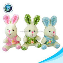 Customized cheap soft plush mini animal toy and keychain various stuffed rabbit
