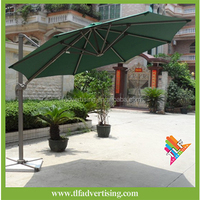3M Aluminum frame hanging outdoor patio parasol, banana outdoor patio umbrella, beach umbrella