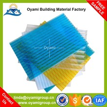 Long duration anti-drop polycarbonate hollow sheet transparent roof panel for greenhouse skylight