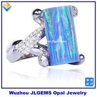 Fashion 925 Sterling Silver Rings Synthetic Mystic Opal Decorated Ring