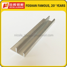 Indian Kitchen Cabinet Aluminum Extrusion Profile in F Shape Mill Finished