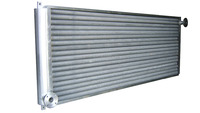 Aluminum extruded fin tube heat exchanger for heat recovery