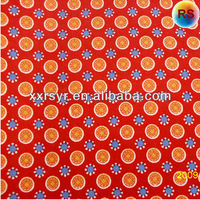 Dark Red Printing Polyester Cotton Blend Fabric