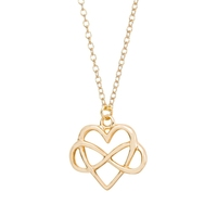 Heart love forever Necklace,Heart and Infinity Symbol and Heart combined necklace